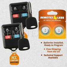 2 for 2000 2001 2002 Lincoln LS Keyless Entry Remote Fob Car Key