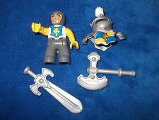 LEGO DUPLO RITTERBURG RITTER + RÜSTUNG + SCHWERT + AXT 4785 4777 4779