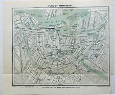 Amsterdam Holland detailed city plan 1910-20 Bartholomew small charming map