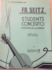 Seitz Concerto for Violin and Piano, No. 5 in D op. 22 (first position)