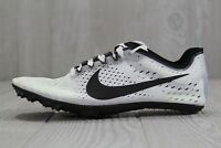 37 Mens Nike Zoom Victory 3 Track Spikes White Black 5.5 6.5 12.5 835997-107