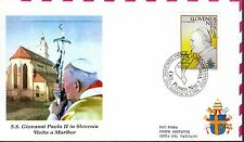 618- FDC VATICAN VISITE PAPE JEAN PAUL II   EN  SLOVENIE