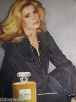 "1978 Chanel No 5 Cologne Original Print Ad-Catherine Deneuve-8.5 x 10.5""#2"