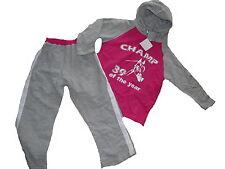 NEU C & A tolle sportliche Kombi Gr. 110 Kapuzen Pulli + Sport Hose grau-rosa !!