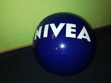 4 x Aufblasbarer Wasserball Nivea Blau mit Aufschrift weiss NEU & OVP eingeschwe