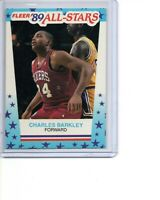 1989-90 Fleer Stickers # 4 Charles Barkley Philadelphia 76ers HOF SEE SCANS