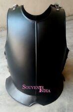 Medieval Body Armor Vest Plate Armor Sca Larp Black Finish Mild Steel