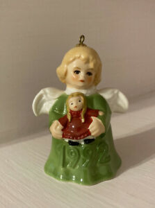 Vintage Goebel 1992 Christmas Angel with Doll Bell Ornament
