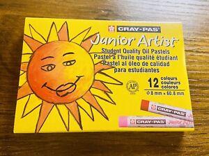 SAKURA XEP12 Cray-Pas Junior Artist Oil Pastels, 12 Piece Set