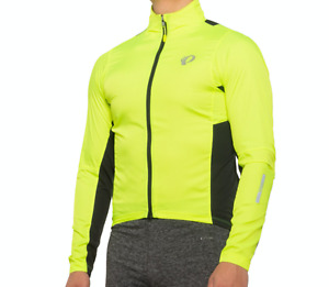 NEW PEARL IZUMI ELITE PURSUIT HYBRID CYCLING JACKET MENS L SCREAMING YELLOW