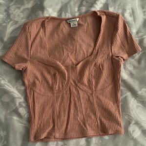 Monki Pink Top Size Small