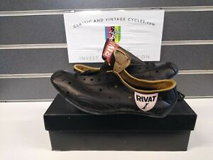 NOS Vintage Leather Pro Cycling Shoes 1970-80's Size 39 Eroica Ready New in Box