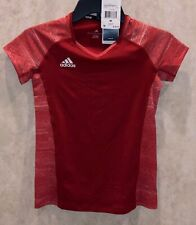 ADIDAS Quickset Cap Sleeve Power Red Volleyball Jersey Shirt NEW Girls Sz M L