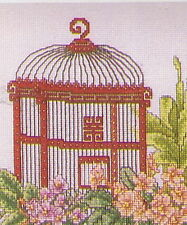 Oriental Bird Cages Cross Stitch Chart Pattern - 2 Designs Color Charts