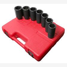"Sunex 2839 1/2"" Dr. 7 Pc. Metric Deep Spindle Nut Impact Socket Set"