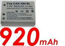 ★★★ 920 mAh Batterie Compatible CANON NB10L / NB-10L PowerShot SX40HS/SX40 HS