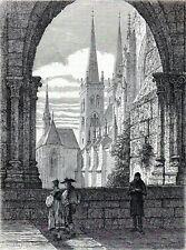 Antique print kloster Halberstadt Harz 1863