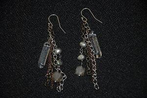 """SILPADA - W2443 - Pearl Brass Copper Glass """"Joyful Gathering"""" Earrings - RET"""