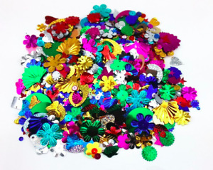 loose multi/mixed colour assorted Shape Sewing Sequins confetti wedding table