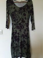 Boden Floral Rouched Front Stretch Dress Size 12 L