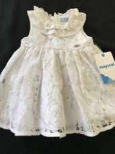 Mayoral (Spain) NWT White Lace Dress - 6 Months