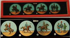 Ancienne plaque magic lanterne magique fin XIX Collec Officier Soldat Cavalier 2