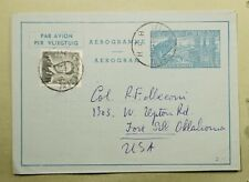 Dr Who 1956 Belgium Ixelles To Usa Aerogramme Uprated Stationery C200808