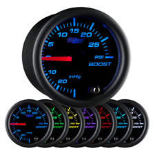 Black 7 Color 30 Psi Boost/Vacuum Gauge