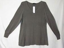 NEW Calvin Klein 1X Cotton Tunic Shaped Long Sweater Top Gray Smoke Cat Rescue