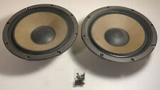 """MATCHED PAIR of SANSUI WOOFERS W-104 12"""" SPEAKERS SP-2500 With Screws"""