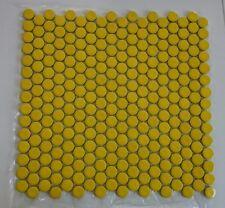 1 Matte Knopf Mosaik gelb 31x31cm -1 Stein ca. 1,8 cm rund - NOR300