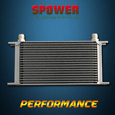 Universal 19 Row AN10 Engine Transmission Oil Cooler Mocal Style 248MM Silver