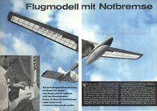 Bauplan Segelflugmodell mit Bremsfallschirm CONDOR - Original von 1963