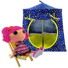 Royal blue, colored star print Toy Play Fabric House, 2 Sleeping Bags, handmade