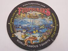 Beer Drink Bar Coaster *~* FUDPUCKER'S Beachside Bar & Grill ~ FLORIDA Locations