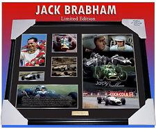 SIR JACK BRABHAM F1 RACING MEMORABILIA FRAMED, LIMITED EDITION 499 w/ C.O.A