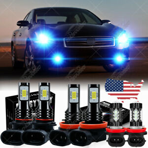 For Nissan Maxima 2009-2014 - 6PC LED Headlight Hi/Lo Fog Light Bulbs Combo Kit