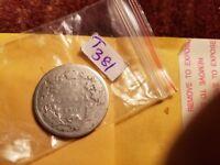 1902 25 Cents Rare Silver Coin Canada ID#T381.