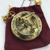 Nautical Antique Brass Sundial Compass Vintage, Brass Beautiful Shiny Finish