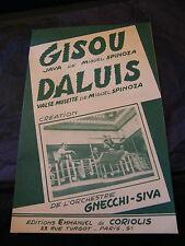 Partition Gisou Miguel Spinoza Daluis Orchestre Gnecchi Siva Music Sheet