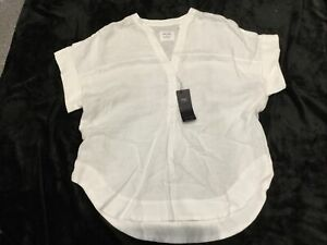 BNWT LADIES M/&S SHORT SLEEVED WHITE BLOUSE SIZE 24 R//PRICE £29.50