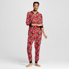 NEW Disney Micky Mouse Pajamas Union Suit women's X-large 1X one piece 16-18 XL