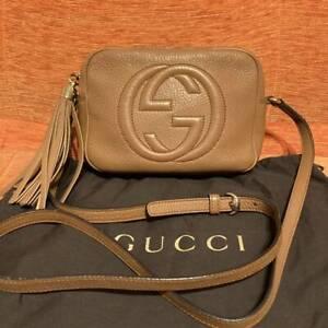 Gucci Soho Leather Disco Bag Soho Shoulder Bag 303364 Rose Beige gb1461