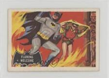 1966 A&BC Batman Black Bat #51 Flaming Welcome Non-Sports Card 0a6