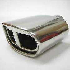 Dual Chrome Exhaust Universal Twin Pipe Sport Muffler Trim Pipe Tail Tip