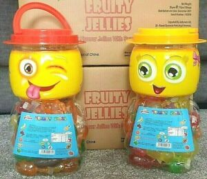 FRUITY JELLIES TIK TOK CHALLENGE NOVELTY JAR 55 PIECES Fruit Jelly HIT OR MISS