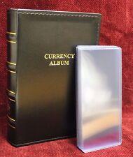 Lighthouse Currency Album Binder Modern Banknote + 20 Rigid Topload Holder Cases