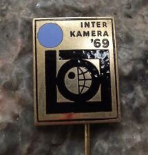 1969 Inter Kamera '69 SLR Camera & Photo Exhibition Intercamera Pin Badge