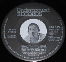 "Instrumental 45~THE PILTDOWN MEN~Brontosaurus Stomp / Rides Again~CLEAN Vinyl 7"""