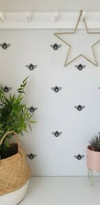 BEE INSECT WALL STICKERS DECALS DECORATION BLACK